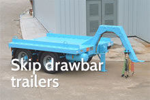 Photography of Skip drawbar trailers