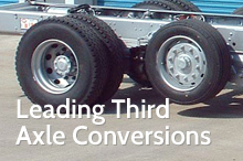 Photography of Leading third axle conversions