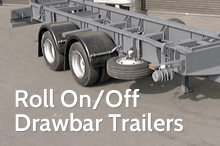Photography of Roll On/Off drawbar trailers