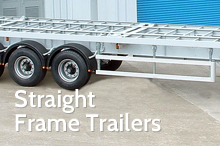 Photography of Straight frame semi trailers