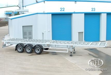 Straight frame semi trailers